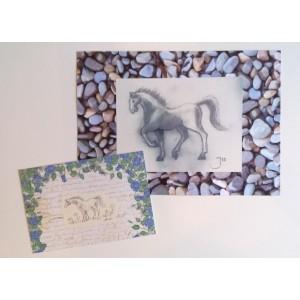 Iso hevoskortti valokuvapohjalla
